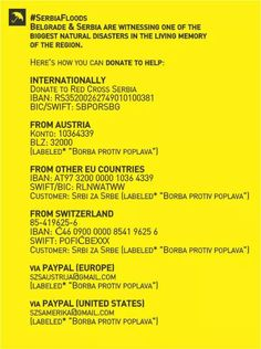 Serbia is witnessing one of the biggest natural disasters in the living memory of region. Here`s how you can donate to help from around the world.
