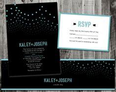 String Lights Wedding Invitation Suite - SAMPLE. $7.00, via Etsy.