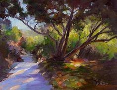 impressionistic landscapes | Karen Winters. California Oak Trail Impressionist Landscape