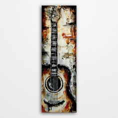 Guitar painting Acoustic Guitar art Music by MagierFineArt on Etsy