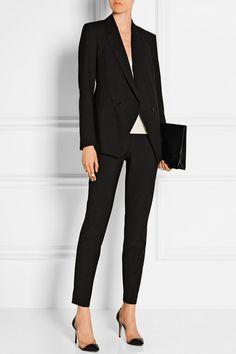 Theory|High-rise stretch-wool skinny pants|House of Marbury houseofmarbury.com