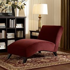Cozy up with a book and a cup of joe or relax and take a cat nap on this dark brown chaise. Its modern style adds class to your home while giving you the perfect place to sit and relax. The velvety fa