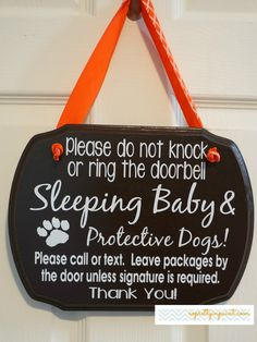 Please do not knock or ring the doorbell. French Corner sign — So Pretty in Paint Little Mac, Little Babies, Baby E, Baby Sleep, Protective Dogs, Everything Baby, Baby Hacks, Having A Baby, Baby Fever