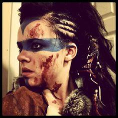 viking / warrior makeup and hair