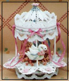 Image detail for -Crochet Swan Carousel Variation: