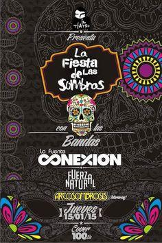 """Cresta Metálica Producciones » El Teatro Bar Valencia presenta: """"La Fiesta de las Sombras"""": La Fuente Conexión, Fuerza Natural y Arcosombrosis // 15 Enero 2015"""