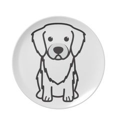 Tibetan Spaniel Dog Cartoon Dinner Plates