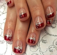 102 festive and easy christmas nail art designs you must try page 37 Fingernail Designs, Toe Nail Designs, Nails Design, Design Design, Xmas Nails, Holiday Nails, Christmas Manicure, French Nails, Ongles Gel Halloween