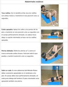 abdominales estáticos Workout, Shape, Perfect Body, Crunches, Health, Work Out, Exercises
