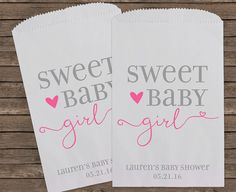 Baby Shower Favors, Girl Baby Shower, Unique Baby Shower Favors, Candy Bar Buffet Bags, Popcorn Bag, Custom Baby Shower Favor, 160 Girl by StampsJubilee on Etsy https://www.etsy.com/transaction/1110493928