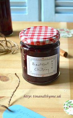 Best Beetroot Chutney - earthy, fruity and delicious. Relish Recipes, Chutney Recipes, Jam Recipes, Canning Recipes, Jelly Recipes, Savoury Recipes, Health Recipes, Curry Recipes, Veggie Recipes