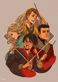 Book 4 is my favorite in the whole Harry Potter series so I simply love this as it shows the Triwizard Champions.