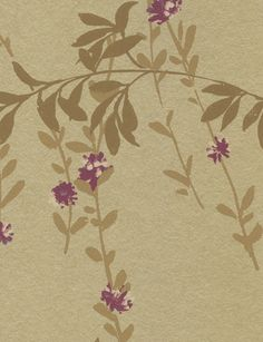 Fiona wallpaper i Metallic Gold from Thibaut.  Painterly buds hint at hand-painted chinooiserie in this graceful design. £64