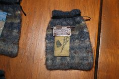 small wool bag pouch with scissors charm. $12.00, via Etsy.