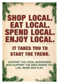 Skip the big box stores and remember to keep your $ local! Shop Small Stores <3