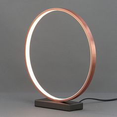 Colours Lyssa Ring Matt Copper effect LED Table lamp - B&Q for all your home and garden supplies and advice on all the latest DIY trends Light Ring, Copper Rings, Floor Lamps, Light Table, Lighting Ideas, Table Lamp, Colours, Living Room, Mirror