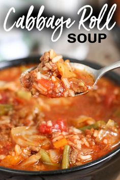 Crockpot Cabbage Roll Soup, Slow Cooker Cabbage Rolls, Cabbage Rolls Recipe, Crockpot Vegetable Soup, Easy Crockpot Soup, Slow Cooker Ground Beef, Slow Cooker Soup, Slow Cooker Recipes, Crockpot Recipes