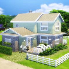 Time for a new build! (What, already?) In honor of The Sims 4 being free last week, I built this three-bedroom BASE GAME ONLY family… Sims 4 Family House, Sims 2 House, Sims 4 House Plans, Sims 4 House Building, Sims 4 House Design, Sims 4 Modern House, Building Games, The Sims Houses, Sims 4 Houses Layout