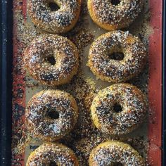 An easy recipe for authentic NY bagels that you can make anywhere in the country! This version uses an everything topping but you can make them plain too! Ny Bagel, New York Bagel, Ny Style Pizza Dough Recipe, Healthy Crockpot Recipes, Cooking Recipes, Healthy Food, Bread Machine Recipes, Bread Recipes, Top Recipes