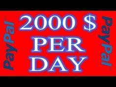 PAYPAL MONEY ADDER 2000$ PER DAY 2017
