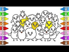 Chicken Doodle | Baby Chicken Drawing | Easter Drawing - YouTube