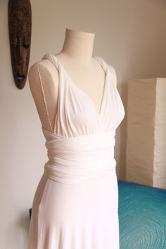 Grecian Goddess Organic Cotton Wedding Dress. $150.00, via Etsy.