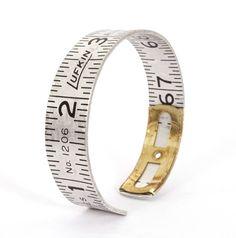 Seam gauge cuff bracelet. Excellent!