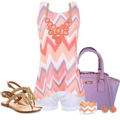 I like the chevron on this top and the style.  Would prefer bolder colors.