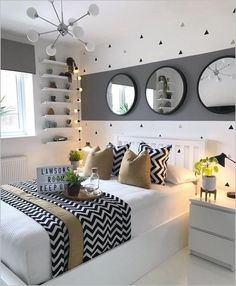 bedroom decor for small rooms & bedroom decor . bedroom decor for couples . bedroom decor ideas for women . bedroom decor for small rooms . bedroom decor ideas for couples Girl Bedroom Designs, Room Ideas Bedroom, Small Room Bedroom, Home Bedroom, Master Bedrooms, 1920s Bedroom, Bedroom Girls, Bedroom Furniture, Brown Furniture