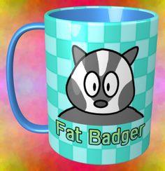 Fat Badger Mug / #Tableware #Animal