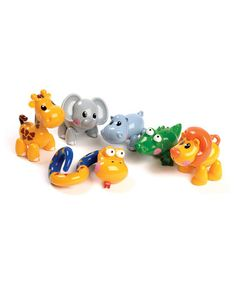 Another great find on #zulily! First Friends Safari Animals Set by Tolo #zulilyfinds
