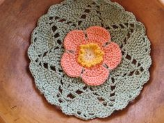 Wild rose dishcloth by eclectic_chica
