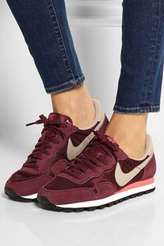 Nike - Air Pegasus 83 suede and mesh sneakers Nike Air Pegasus, Cute Shoes, Me Too Shoes, Air Max Sneakers, Sneakers Nike, Sneaker Trend, Adidas Shoes Women, Sneaker Stores, Latest Shoe Trends