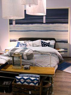 Kodin1, Näyttävä sängynpääty tapetista #elamanikoti