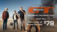 AMAZON PRIME $79 TODAY ONLY Until November 18th at 11:59 p.m., PT, eligible new members can join Amazon Prime for $79 plus applicable taxes for the first year and enjoy member-only benefits and content, including The Grand Tour. Although the price in your cart will show $99, the promotion discount will be applied at checkout. You will be charged when you place your order.