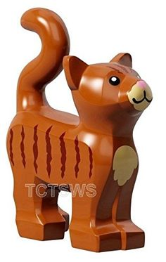 LEGO Animal Standing Cat Kitten Dark Orange Pet from Minifigures Friends x1 Loose ** You can find out more details at the link of the image.
