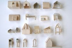 Wooden tiny houses.
