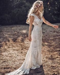 Wedding Reception Outfit, Traditional Wedding Dresses, Country Wedding Dresses, Bohemian Wedding Dresses, Black Wedding Dresses, Lace Wedding, Bohemian Theme, Bohemian Fashion, Lace Dresses