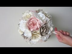 This is brilliant!! DIY Wedding Bouquet Paper Flowers from start to finish - YouTube
