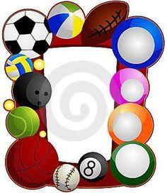 all sports border papers rh pinterest com sports border clip art free
