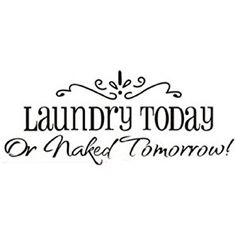 Removable Laundry Room Quote Decal Art Vinyl Wall Sticker Paper Lettering Black