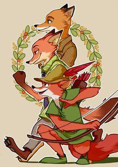 Foxes ~ Fantastic Mr. Fox ~ Nick Wilde ~ Robín Hood