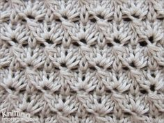 The Cluster stitch pattern is interesting to knit and to look at,without being too challenging to knit. It looks like a crochet pattern. Knitting Squares, Poncho Knitting Patterns, Knitting Stiches, Arm Knitting, Knit Patterns, Crochet Stitches, Stitch Patterns, Crochet Motif, Knit Crochet