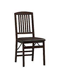 Linon Triena Mission Back Folding Chair Set Of 2