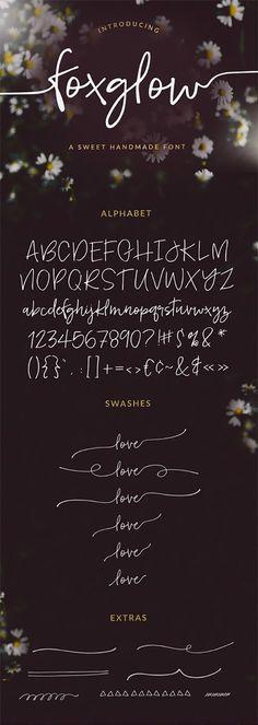 Foxglow Modern Handwritten Font - Fonts - Ideas of Fonts - Foxglow Modern Handwritten Font by angiemakes Hand Lettering Fonts, Handwriting Fonts, Calligraphy Fonts, Typography Letters, Brush Lettering, Typography Design, Font Alphabet, Lettering Tutorial, Monogram Fonts