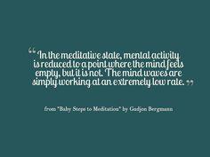 Baby Steps to Meditation