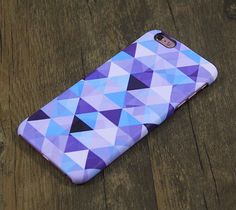 Violet Blue Triangle Geometric Design iPhone 6s Case/Plus/5S/5C/5/4S Protective Case