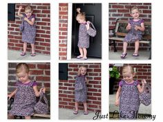 """The """"Just Like Mommy"""" Purse Tutorial. A darling little bag that is simple to whip up and just the right size for a little lady."""