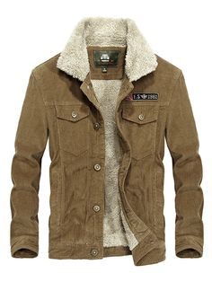 Find Yeokou Men's Vintage Slim Sherpa Lined Shearling Corduroy Trucker Jacket online. Shop the latest collection of Yeokou Men's Vintage Slim Sherpa Lined Shearling Corduroy Trucker Jacket from the popular stores - all in one Mens Corduroy Jacket, Bomber Jacket Men, Men's Jacket, Field Jacket, Mens Winter Coat, Winter Jackets, Casual Jackets, Winter Coats, Jackets Online