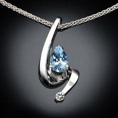 emerald necklace – white sapphire – fine jewelry – Argentium silver – Chatham emerald – May birthstone – green – contemporary jewelry – 3380 Blue Sapphire Necklace, Sapphire Jewelry, Silver Jewelry, Fine Jewelry, White Sapphire, Garnet Necklace, Gemstone Necklace, Jewellery Uk, Cheap Jewelry